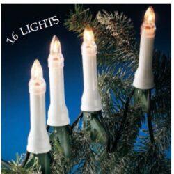 lyskæde med efterligning af hvide juletræslys 16 styk LED lys