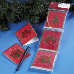 24 stk. røde gavemærker til jul til at lukke op og skrive indeni