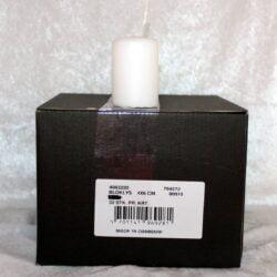 lille bloklys hvid stearinlys 4 x 6 centimeter