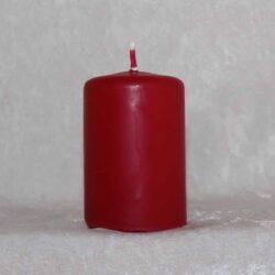 lille bloklys rød stearinlys 4 x 6 centimeter