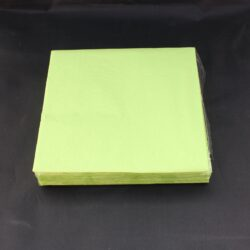 middags servietter ensfarvede 3 lags lime kiwi farvede 20 stk.