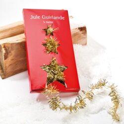 5 meter lang guld lametta ranke som pynt til juletræ