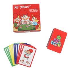 det klassiske kortspil uno i juleudgave med julius nisser sig Julius