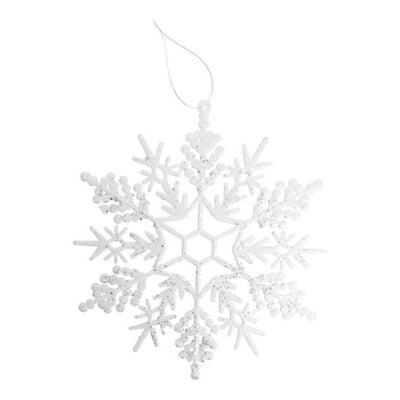 hvide kunstige snefnug diameter 29 cm. iskrystaller med snor til ophængning