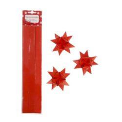 stjernestrimler røde blanke 2 cm. brede til lav selv flet stjerner
