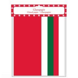 5 ark glanspapir i forskellige farver til hjemmelavet julepynt