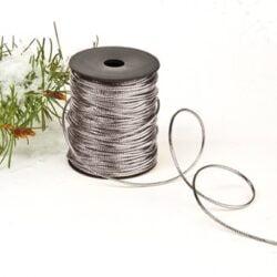 sølv snor kraftig kvalitet  20 meter på rulle