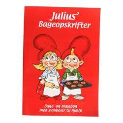 kombineret malebog og opskriftsbog på julebag og lækkerier til jul