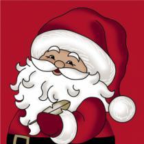juleservietter frokost størrelse røde med stor julemand