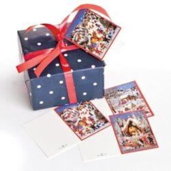 gavemærker med glimmer til julegaver