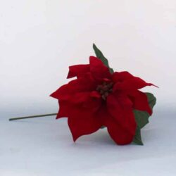 kunstig julestjerne blomst rød med stilk til juledekorationer