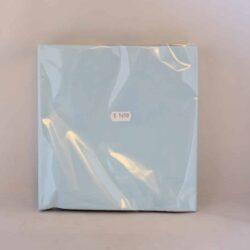 middags servietter ensfarvede 3 lags lyseblå farvede 20 stk.