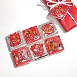 gavermærker med Babynisser til julegaver og kalendergaver pose med 12 styk
