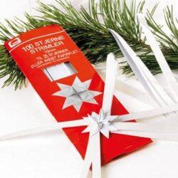 papirstrimler 1 centimeter brede til hvide flet stjerner gør det selv