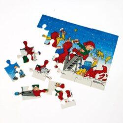 bramming nisser på puslespil med 24 brikker