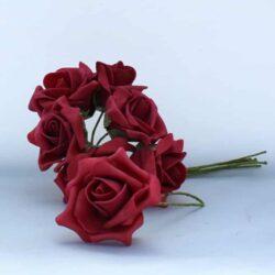 kunstig rose blomst røde med stilk til juledekorationer