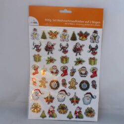 86 klistermærker stickers med julemotiver i flotte farver