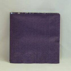frokost servietter ensfarvede 3 lags lilla 20 stk.