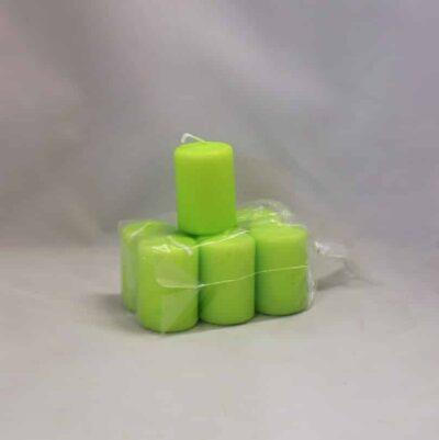 lille lime farvet stearinlys 4 x 6 centimeter i pose med 6 styk
