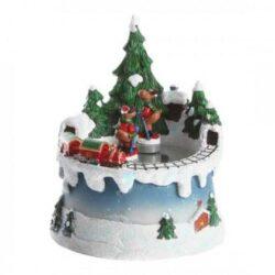 mekanisk julelandskab med musik og skøjtebane til optræk