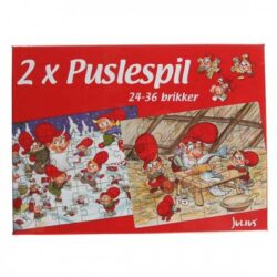 To små jule puslespil med Julius nisser