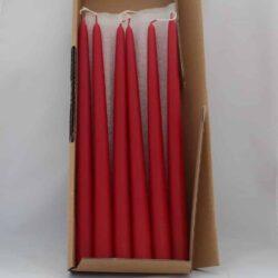 røde dyppede stagelys til lysestager