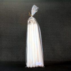 hvide kertelys cm. stearinlys