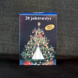 Juletræslys Hvide i 100% REN STEARIN, perfekte til juletræ