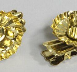 lysholdere til juletræslys med klemme 10 stk. i guld metal