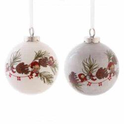 to julekugler med apoteker nisser hvid keramik med tekstilbånd
