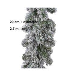 kunstig grøn gran guirlande af kunstigt gran med hvidt falsk sne