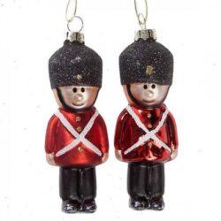 dansk garder som glasfigur til ophæng på juletræ