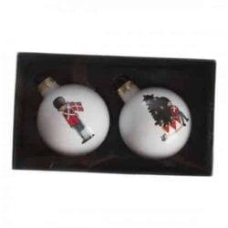 julekugler med garder soldat fra København