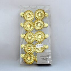lysholder med klemme til juletræ guld