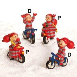 Babysitter Mädchen Fahrräder auf rotem Fahrrad