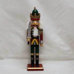 nøddeknækker figur 25 centimeter høj med sværd og guld