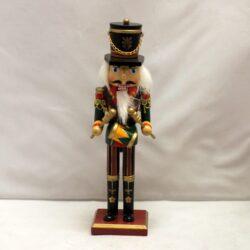 nøddeknækker figur 25 centimeter høj med tromme og guld