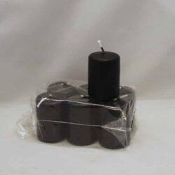 små sorte stearinlys 4 x 6 centimeter i pose med 6 styk