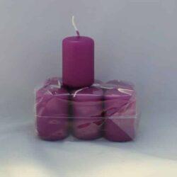 lille orient lilla stearinlys 4 x 6 centimeter i pose med 6 styk