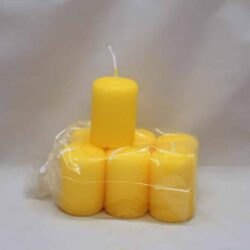 små gule stearinlys 4 x 6 centimeter i pose med 6 styk
