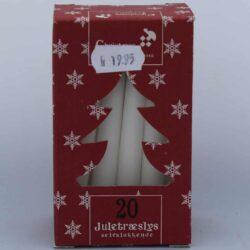 hvide selvslukkende stearinlys til juletræ