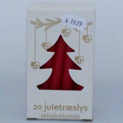 røde selvslukkende juletræslys til lysholdere på juletræet