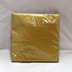 frokost servietter guld farvet